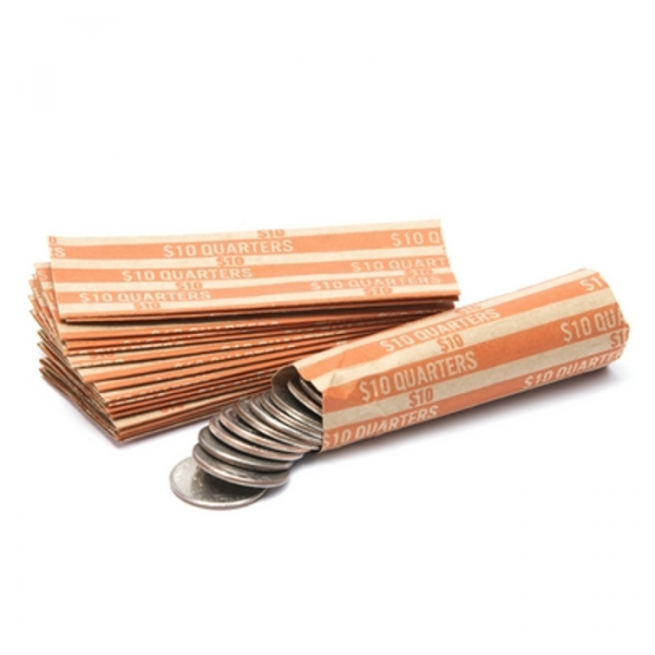 Quarter Flat Striped Coin Wrappers