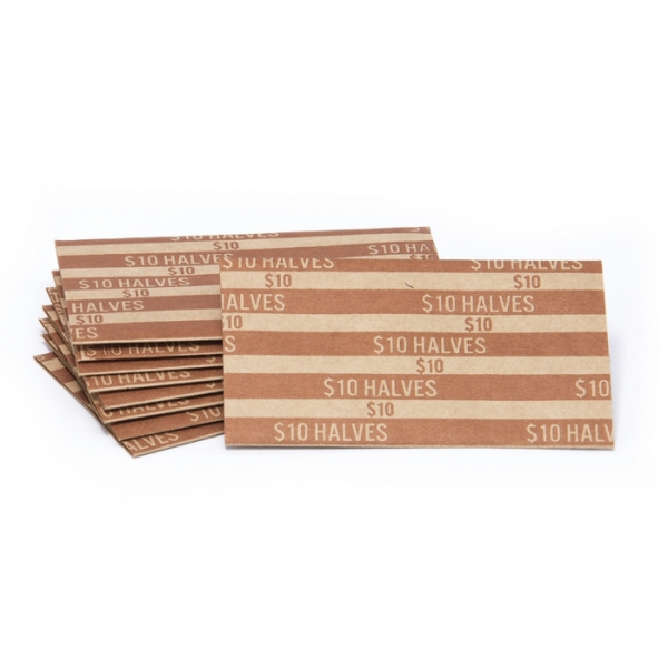 Half Dollar Flat Striped Coin Wrappers