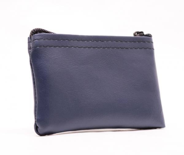 Navy Blue Zipper Wallet 3 X 4.5