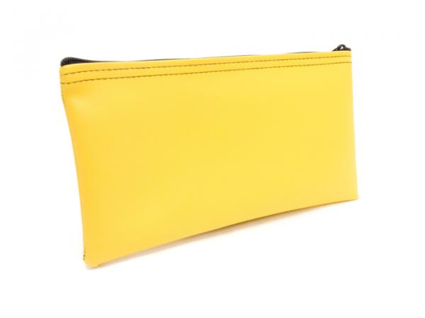Yellow Zipper Bank Bag 5.5 X 10.5