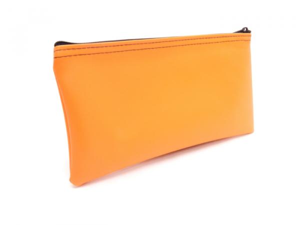 Orange Zipper Bank Bag 5.5 X 10.5