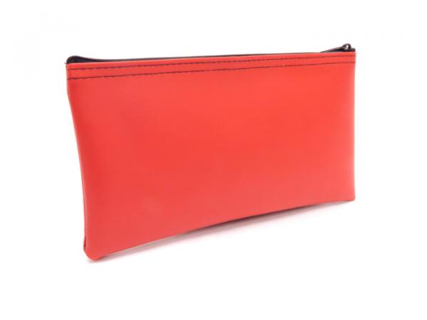 Red Zipper Bank Bag 5.5 X 10.5