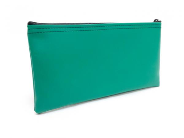 Green Zipper Bank Bag 5.5 X 10.5