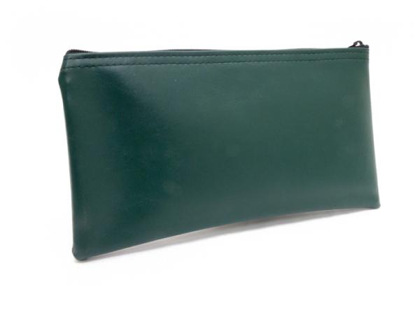 Forest Green Zipper Bank Bag 5.5 X 10.5