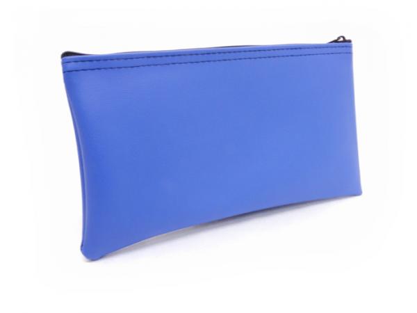 Blue Zipper Bank Bag 5.5 X 10.5