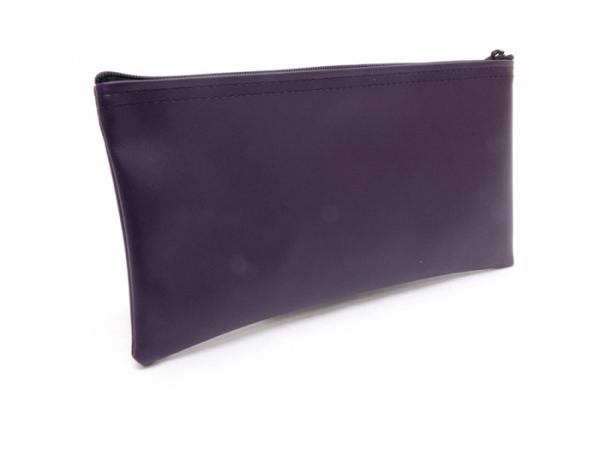 Purple Zipper Bank Bag 5.5 X 10.5