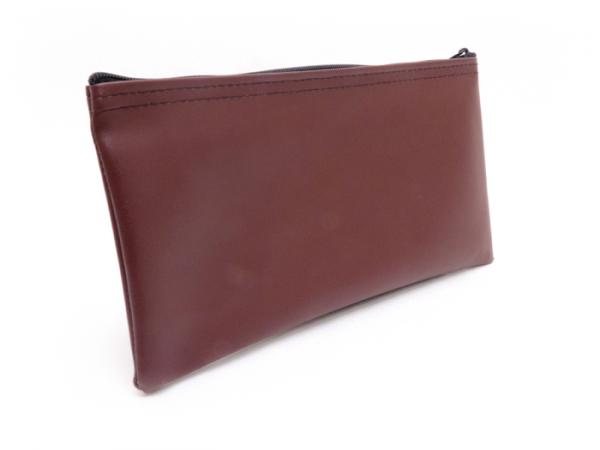 Burgundy Zipper Bank Bag 5.5 X 10.5
