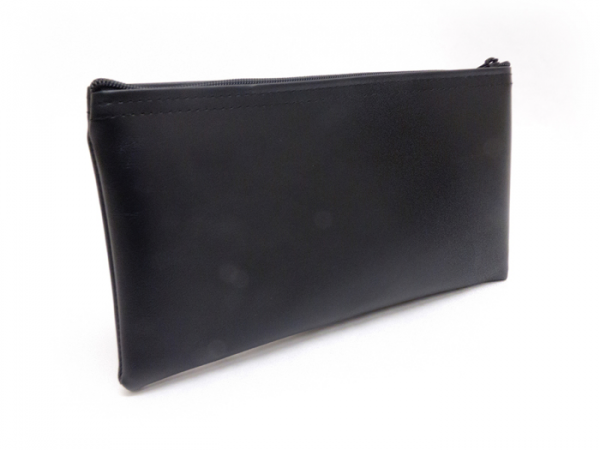 Black Zipper Bank Bag 5.5 X 10.5