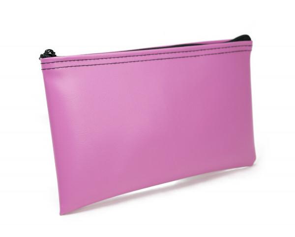Pink Zipper Bank Bag 5.5 X 10.5