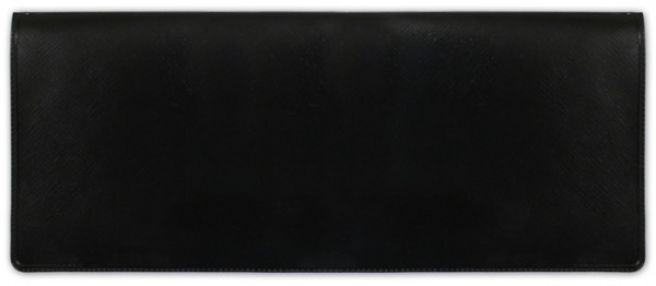 Black Business Vinyl Pocket Checkbook Cover | CVM-BLA01