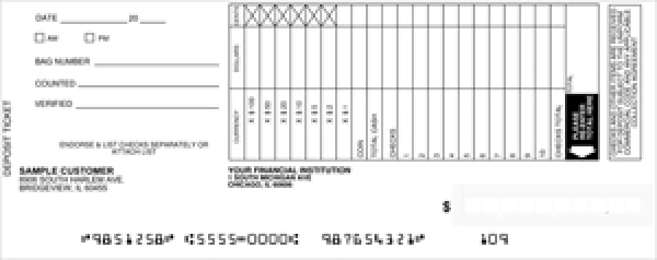 Loose Business Deposit Slips Style 4