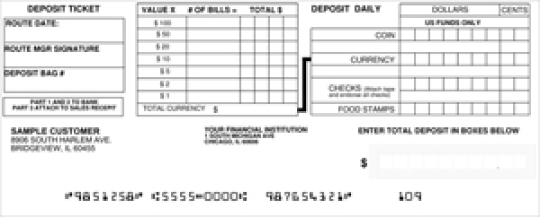 Loose Business Deposit Slips Style 6