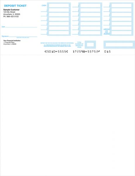 Quickbooks Laser Deposit Tickets