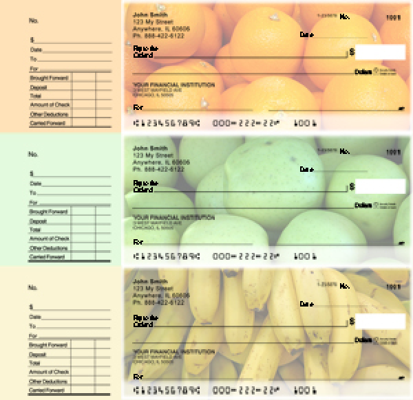 Fruit Designer Deskset Checks