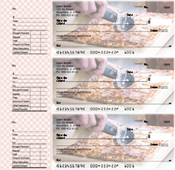 Pizza Designer Deskset Checks
