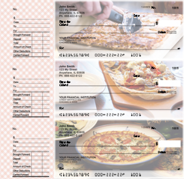 More Pizza Designer Deskset Checks