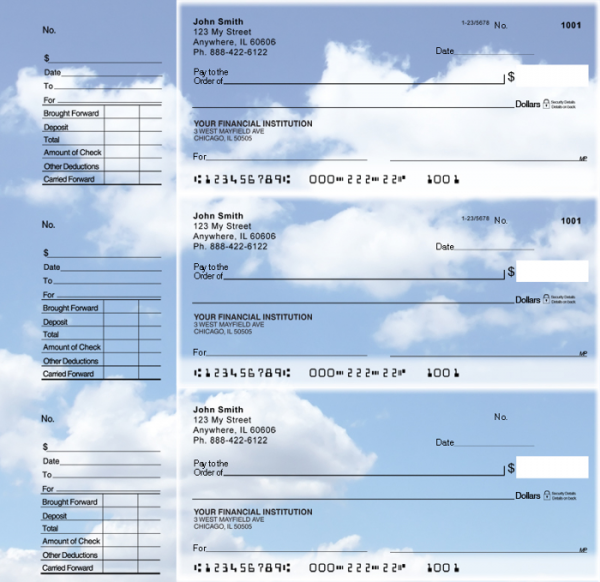 Clouds Designer Deskset Checks