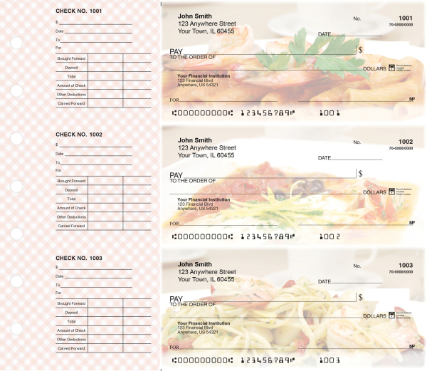 Italian Cuisine Designer Deskset Checks | DS-CDS24