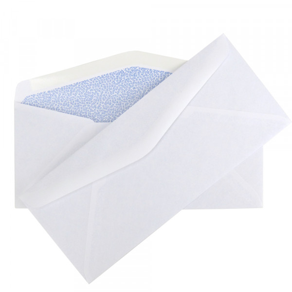 "Envelope Size Class: #10<br> Envelope Closure: Moisture Seal<br> Paper Weight: 24 lb<br> Security Envelopes are ideal for general mailing. These envelopes feature a tinted interior lining to keep sensitive information private and secure and are perfect for a variety of applications. The fully gummed seal is strong and dependable, ideal for business and professional use.<br> Dimensions: 4 1/8"" x 9 1/2"""