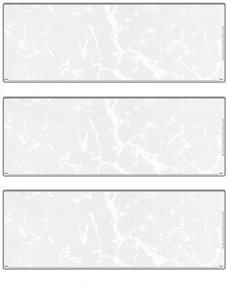 Grey Marble Blank 3 Per Page Laser Checks