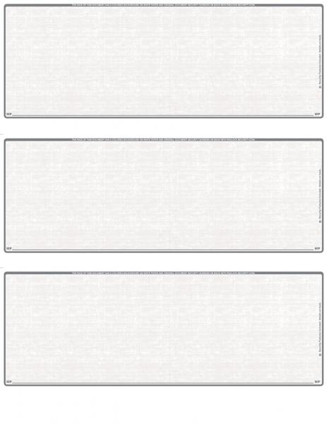 Grey Safety Blank 3 Per Page Laser Checks