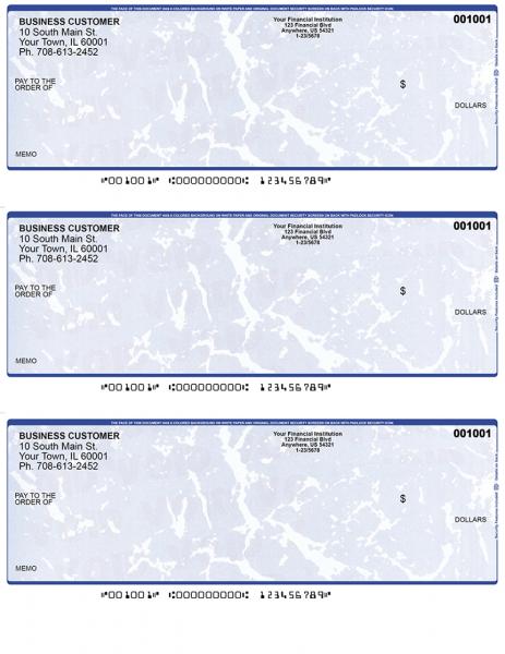 Blue Marble 3 Per Page Laser Checks