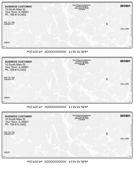 Grey Marble 3 Per Page Laser Checks