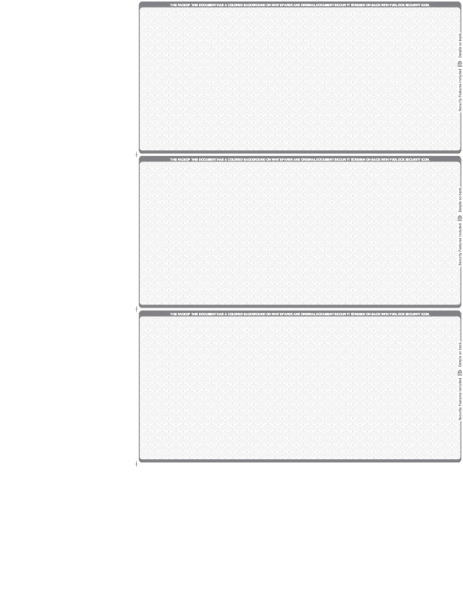 Grey Blank Safety 3 Per Page Wallet Checks