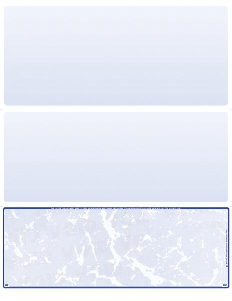Blue Marble Blank Bottom Laser Checks