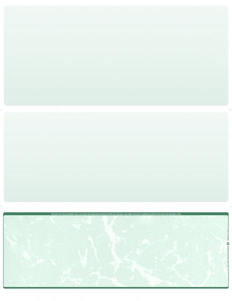 Green Marble Blank Bottom Laser Checks