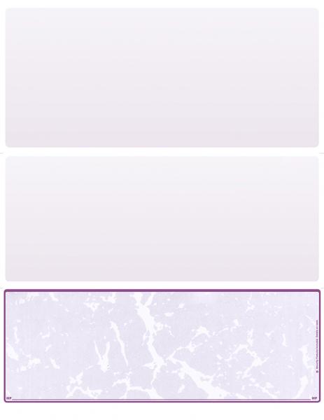 Violet Marble Blank Bottom Laser Checks