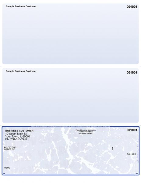 Blue Marble Bottom Laser Checks