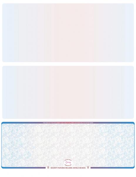 Blue Red Blank High Security Bottom Laser Checks