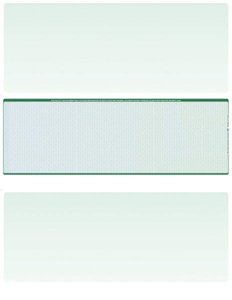 Blue Green Blank Middle Laser Checks
