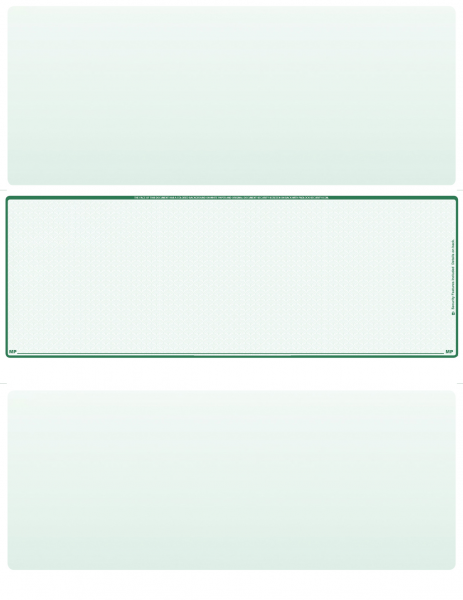 Green Safety Blank Middle Laser Checks