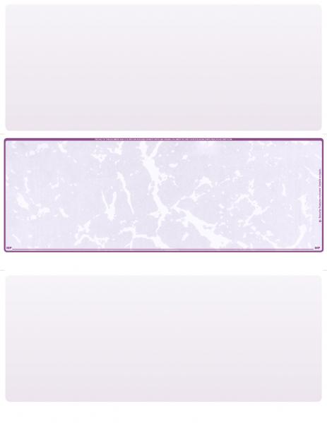 Violet Marble Blank Middle Laser Checks