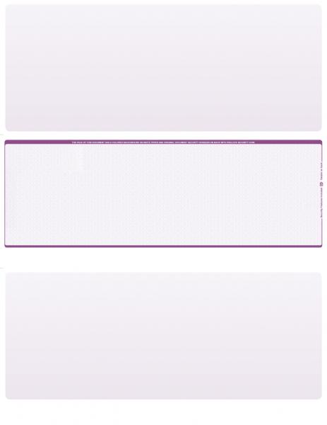 Violet Safety Blank Middle Laser Checks