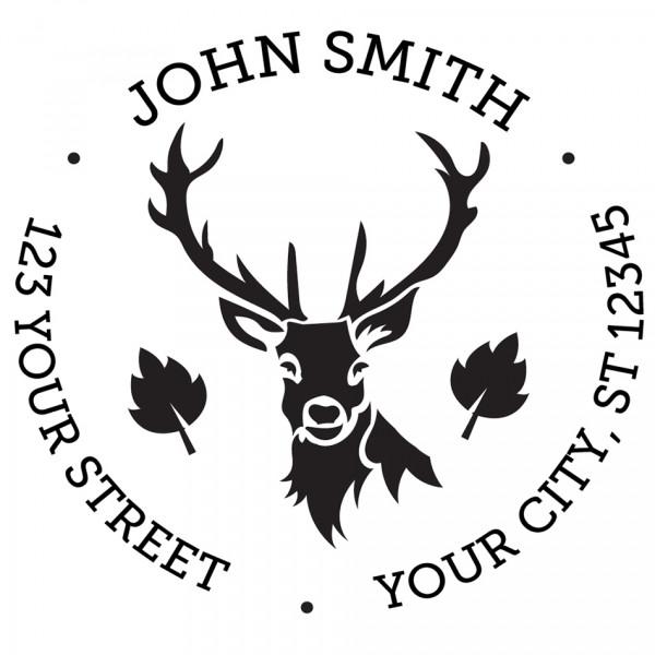 Designer Deer Round Stamp
