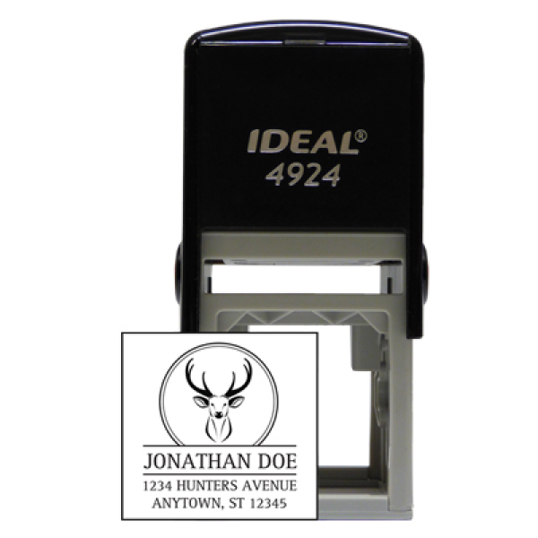 Designer Deer Square Stamp