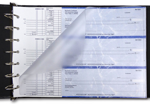 Frosted Business Check Divider