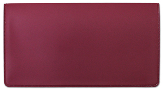 Mauve Vinyl Checkbook Cover