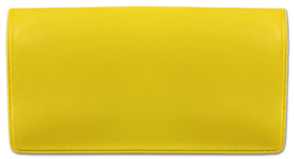 Yellow Vinyl Checkbook Cover