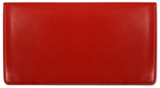 Red Vinyl Checkbook Cover